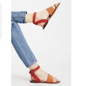 NEW Free People Torrence Ankle Wrap Sandal